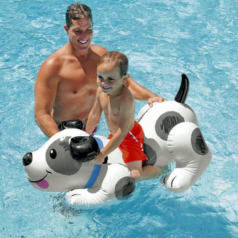Inflatable Dog Floating Mat Swimming Pool Outdoor WATER PARK Sunbathe Dalmatian Mattress Swim Ring Summer Toy L1950