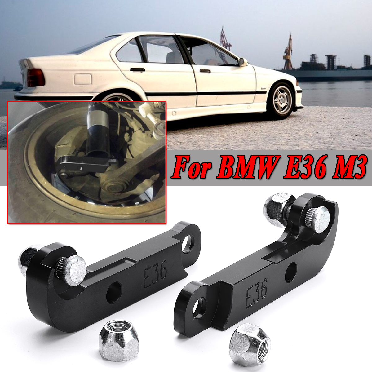 hight resolution of red black 2x adapter increasing turn angles about 25 30 drift lock kit for bmw e36 m3 tuning drift power adapters mounting in axle parts from