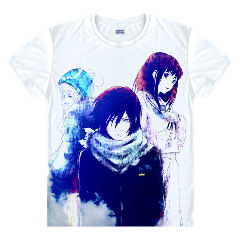 Noragami T-Shirt Nora Shirt Fashion printed t-shirts Anime Collection kawaii dress summer t-shirts Japanese Anime And Manga A