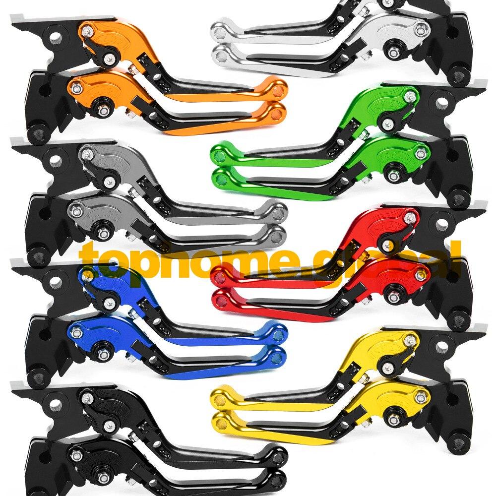 For Yamaha WR125X 2009 - 2015 Foldable Extendable Brake Clutch Levers CNC Folding Extending 2010 2011 2012 2013 2014 Adjustable foldable extendable brake clutch levers for kawasaki z250 z300 2013 2014 cnc 8 colors folding extending adjustable