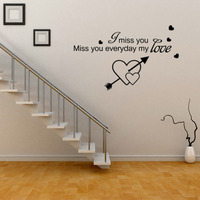 miss the living room bedroom decorative wall stickers new wholesale wholesale English wallpaper