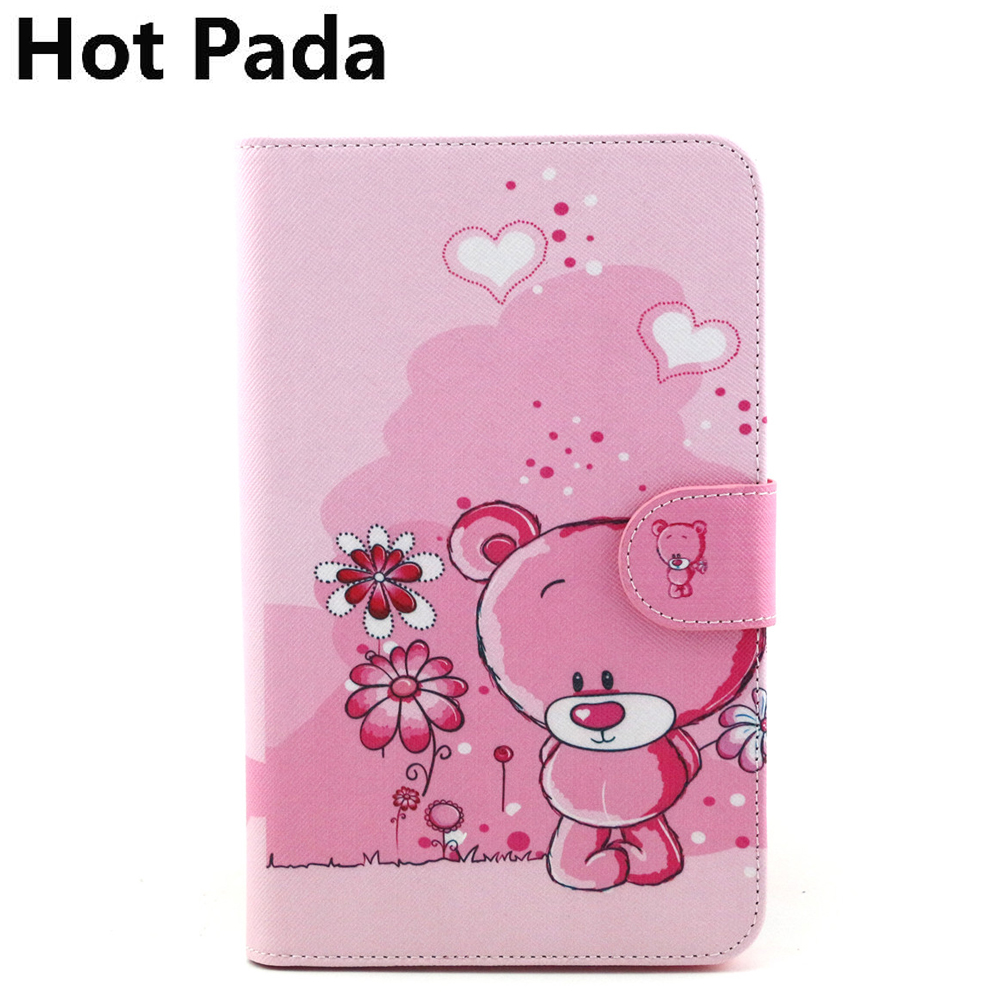 Hot Pada Print Case For Samsung Galaxy Tab 3 V Sm T116 T113nu 7 Tablet Cover T113 Screen Protector In Tablets E Books From