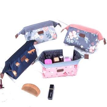 f11ace7ce Nueva bolsa de maquillaje de moda para mujer pequeña Mini bolsa de  cosméticos de belleza portátil organizador de cosméticos Neceser bolsas de  aseo