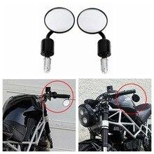 """Moto Universale di Alluminio di CNC Posteriore Vista 3 """"Handle Bar End 7/8"""" Specchi per Kawasaki Yamaha Honda Suzuki Moto chopper"""