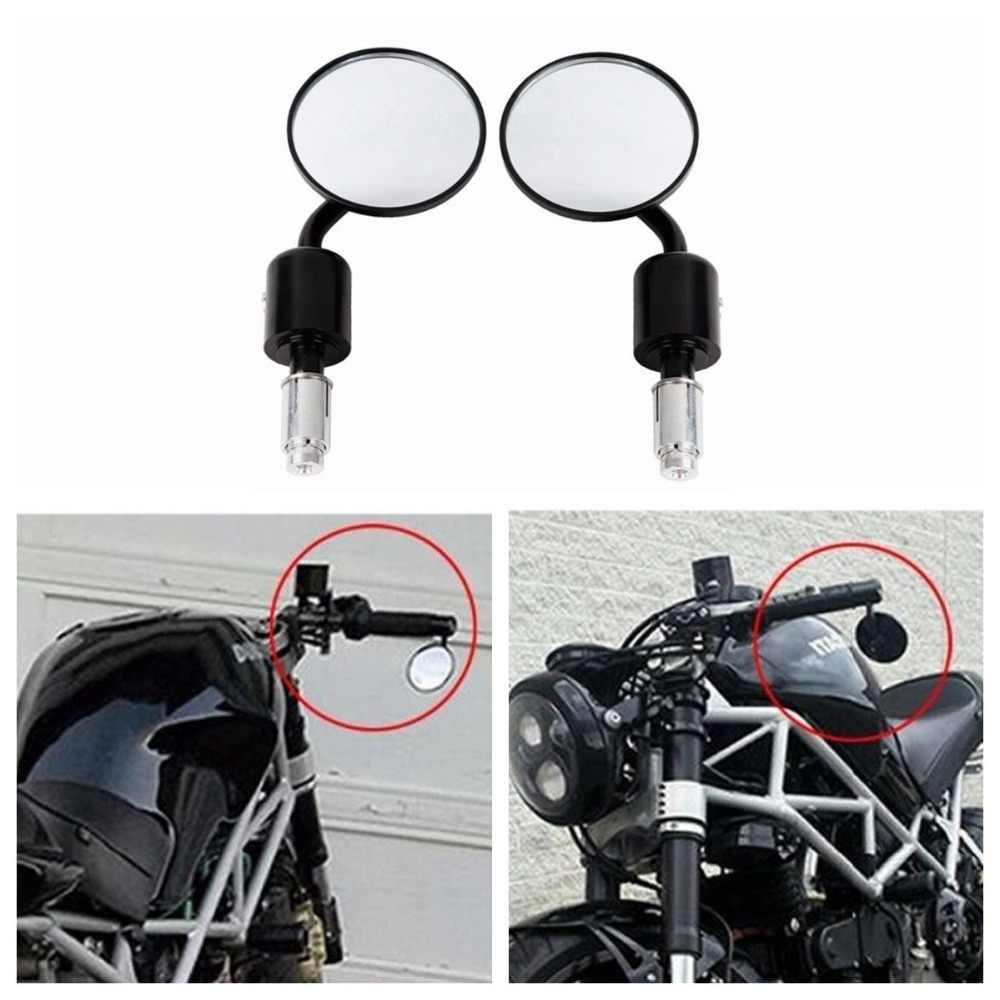 "Motorcycle Universele CNC Aluminium Rear View 3 ""Handle Bar End 7/8"" Spiegels voor Kawasaki Yamaha Honda Suzuki Motorfiets chopper"
