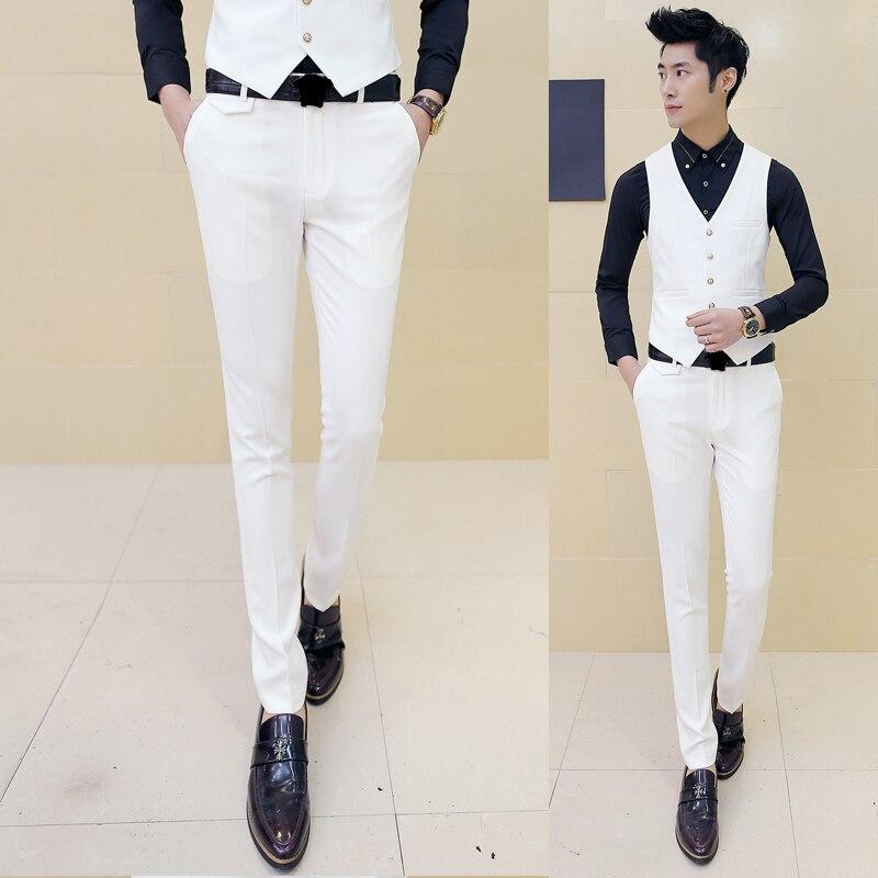2019 New Fashion Fine Cotton Slim Formal Casual Mens Business Suit Pants Men Premium Formal Gentlemen's Suit Pants Trousers