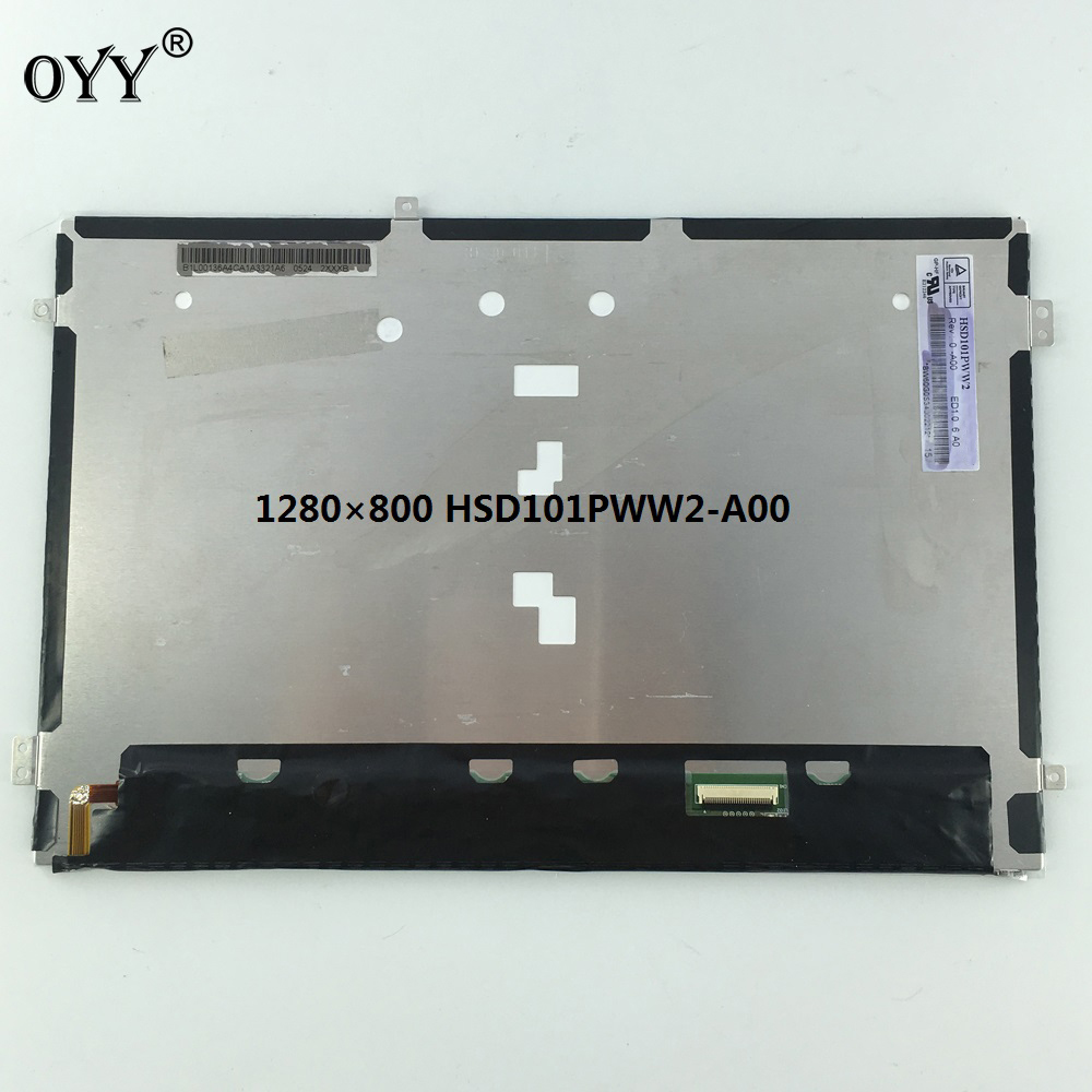 HSD101PWW2 A00 WXGA 1280(RGB)*800 LVDS 30 pins LCD Display Matrix Screen Panel Replacement Parts 10.1'' for tablet PC