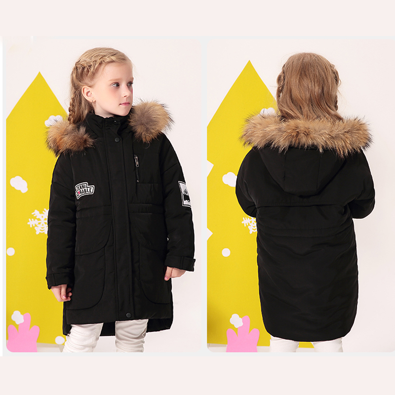 Children Winter Warm Hoodies Coat For Girls New Design 2018 Fashion Casual Cotton Padded Outwear Parka Kid Clothes Jacket 2018 new fashion winter jacket men long thick warm cotton padded jackets coat parka overcoat casual outwear jacket plus size 6xl
