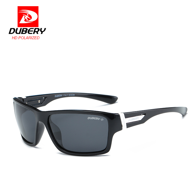 DUBERY Polarized Sunglasses Mens Womens Driving Outdoor Sport Sun Glasses High Quality Square UV400 Luxury Brand Unisex Oculos