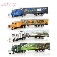 1 Pc 합금 금속 자동차 모델 5 색 컨테이너 트럭 다이 캐스트 모델 아이 어린이 교육 완구 소년을위한 크리스마스 생일 선물