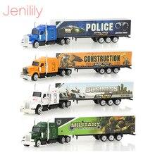 1 Pc aluminiowy metalowy Model samochodu 5 kolorów ciężarówka kontenerowa Model odlewu Kid dzieci edukacyjne zabawki świąteczny prezent urodzinowy dla chłopców