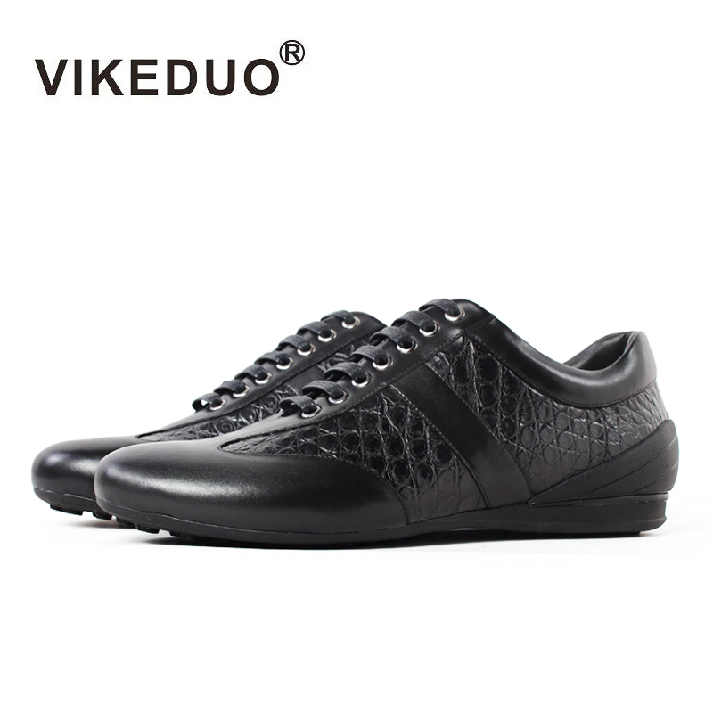 Vikeduo Time-limited 2019 Crocodile Handmade Designer Mens Casual Shoes 100% Alligator Fashion Genuine Leather Luxury Leisure Vikeduo Time-limited 2019 Crocodile Handmade Designer Mens Casual Shoes 100% Alligator Fashion Genuine Leather Luxury Leisure