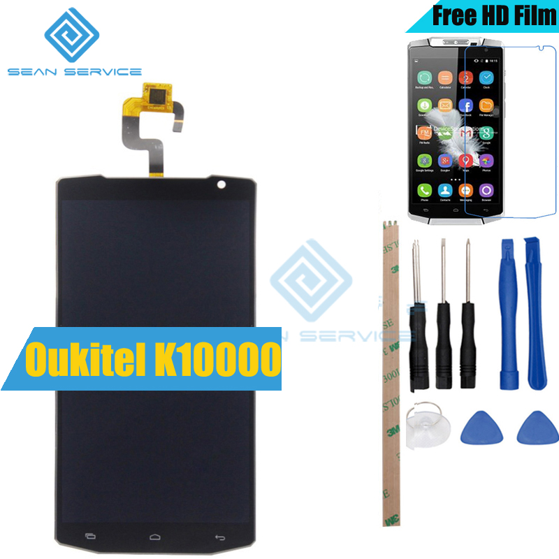 Pour D'origine Oukitel K10000 LCD Affichage et TP Écran Tactile Digitizer Assemblée 5.5 pouce 1280x720 HD Quad Core livraison gratuite