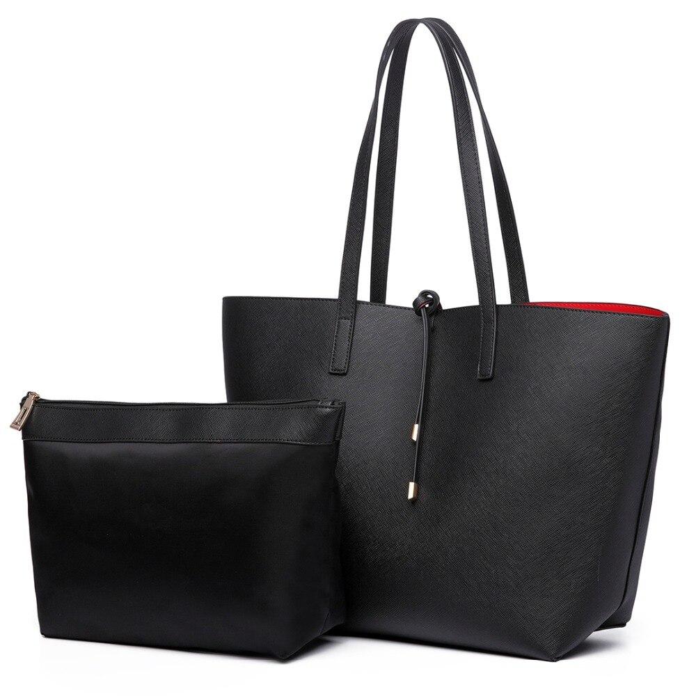Fashion Women Handbags Resersible Contrast Shopper Tote