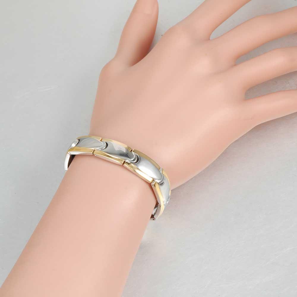 Vinter magnetiske armbånd mænd rustfrit stål magnet ion tysk - Mode smykker - Foto 6