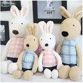 60 cm Classic Toys  Le Sucre With Plaid Shirt  Plush Toy  Lovely Rabbit Birthday Gift Kids Doll