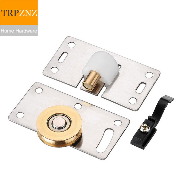 Stainless Steel Wardrobe Sliding Door Track Wheel,with Bearing,copper  Wheel,easy To