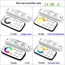 все цены на Bincolor mini RF wireless remote led dimming/CCT/RGB/CW NW WW led dimmer Receiver controller for LED Strip Light,DC12V-24V онлайн