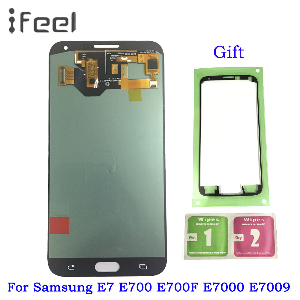 Super AMOLED LCD For Samsung Galaxy E7 E700 E700F E7000 E7009 LCDS Display Touch Screen Digitizer Assembly ReplacementSuper AMOLED LCD For Samsung Galaxy E7 E700 E700F E7000 E7009 LCDS Display Touch Screen Digitizer Assembly Replacement