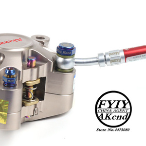 Image 4 - AKCND Motorcycle brake Caliper banjo bolt Oil Drain Screw/Hollow Screw M10x1.25mm For Brake hose Caliper Master Cylinder