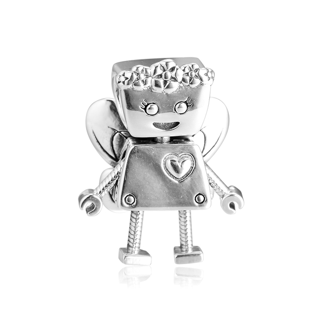 FANDOLA Beads Floral Bella Bot Bobby Bot Dog Charms 925 Sterling Silver Fits Charm Bracelets Beads for Jewelry Making kralen