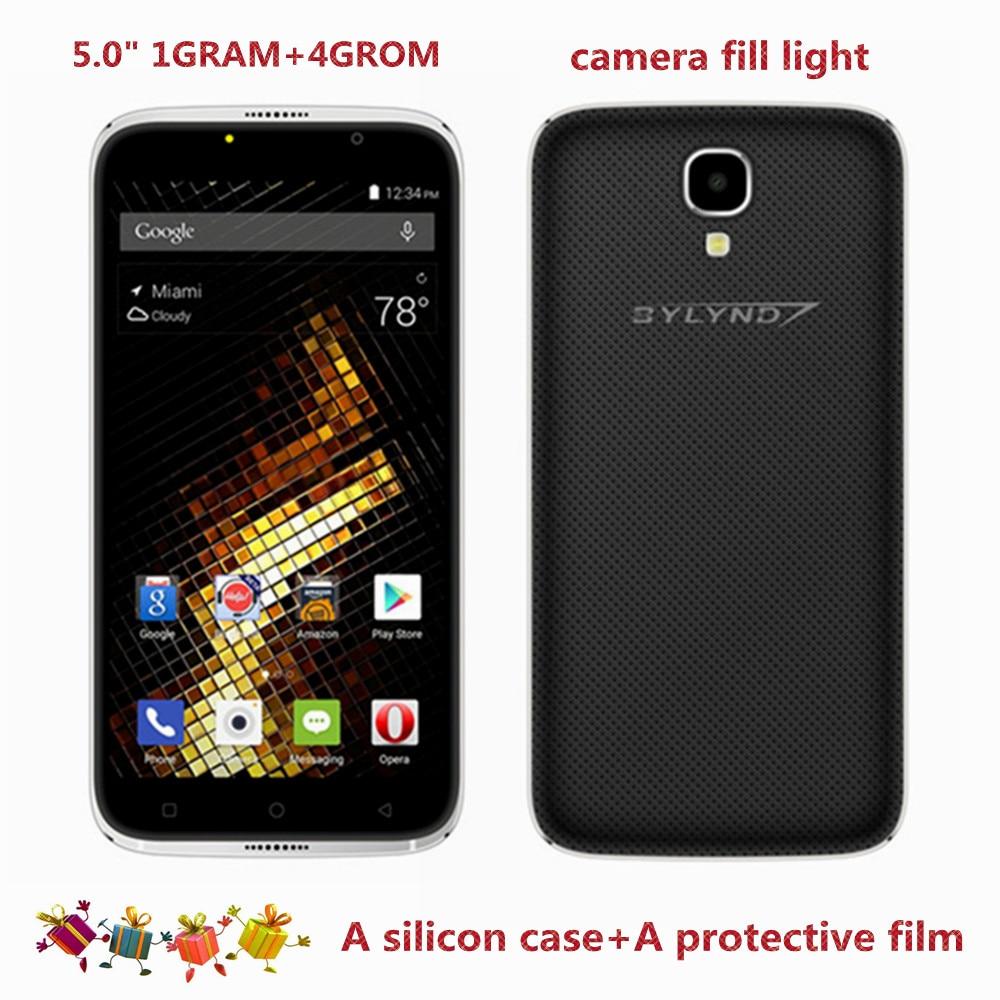 Новое поступление дешевые Celular bylynd X6 смартфонов 5.0 MTK6580 фронтальная камера заполняющий свет 5MP 1 грамм + 4grom Android 6.0 Мобильные телефоны 3G