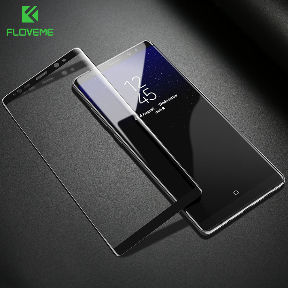 Galleria fotografica FLOVEME 9H 0.33mm Tempered Glass For Samsung Galaxy Note 8 Cool Thin 3D Curved Full Cover Protective Glass Film Screen Protector
