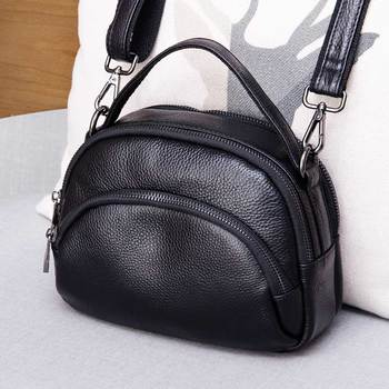 High Quality Genuine Leather Women's Handbags Cow Leather Small Shoulder CrossBody Bags For Women Shell Bags