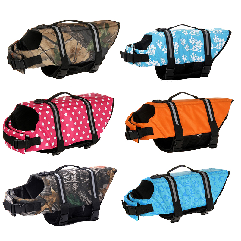 owlwin Dog Life Jacket Pet Saver Life Vest Swimming Preserver Dog Puppy Swimwear Surfing Swimming Vest Reflective Stripes