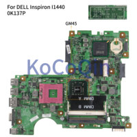 KoCoQin Laptop motherboard For DELL Inspiron 1440 I1440 Mainboard CN 0K137P 0K137P 08265 1 48.4BK09.011 GM45