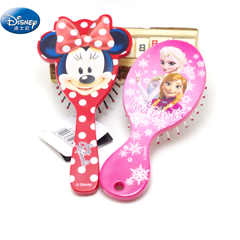 Disney 2018 Salon Detangling Kids Gentle Anti-static Brush Tangle Wet & Dry Bristles Handle Tangle Comb Curly Hair Brush Combs