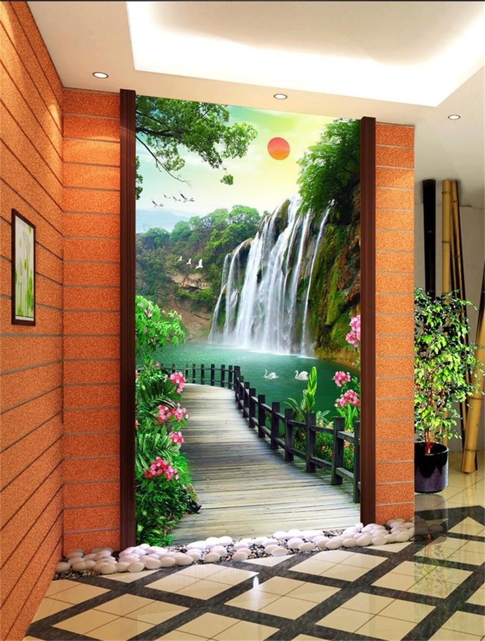 3d wallpaper custom mural beauty non woven wallpaper sunrise