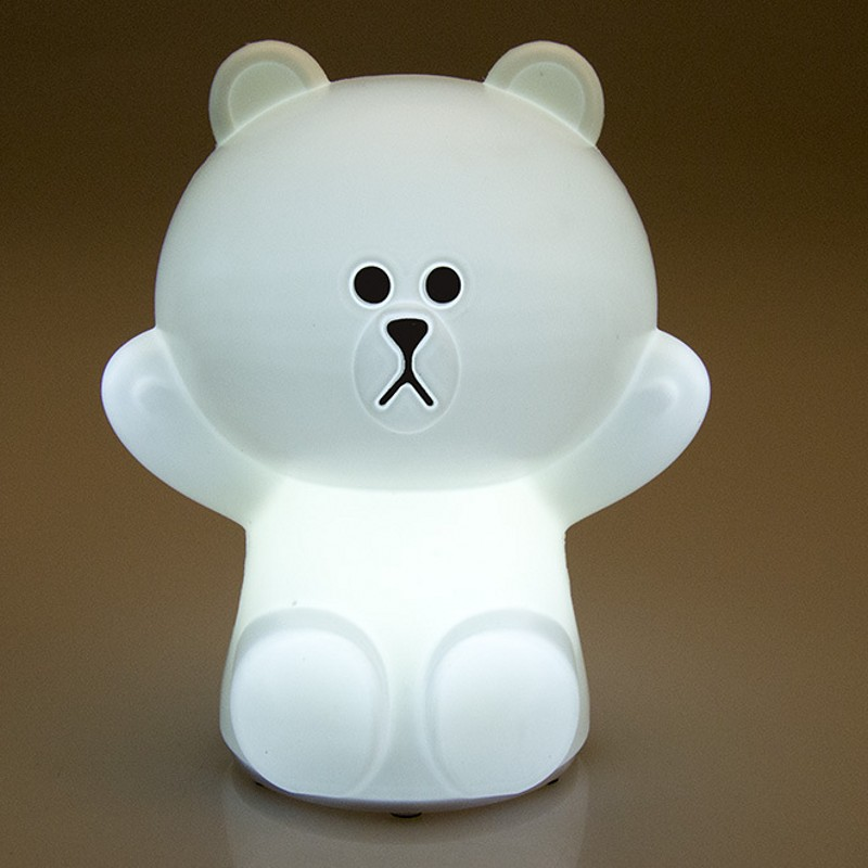 FENGLAIYI Cute Cartoon Cool Library Bear Colorful LED Night Light Child Bedroom Decoration Bedside Lamp Children Holiday Gifts