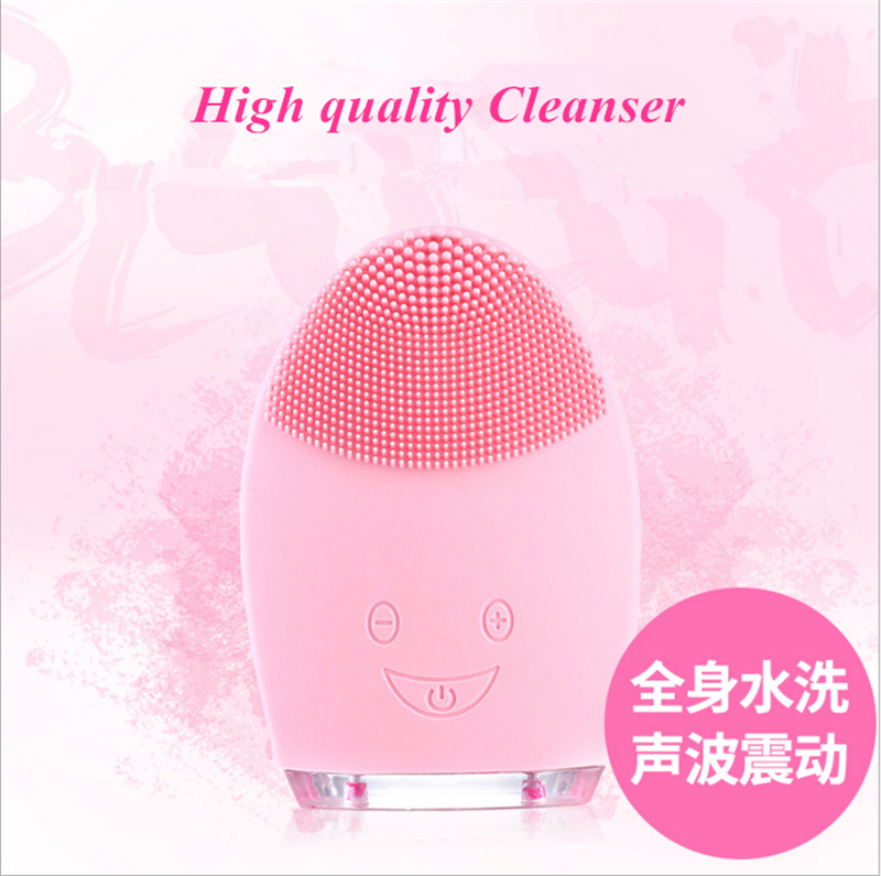 Hot Sale Ultrasonic Cosmetic Instrument Wash Face Apparatus Electric Silica Gel Wash Facial Cleanser Pore Cleaning Instrument xpreen electric pore vacuum cleanser
