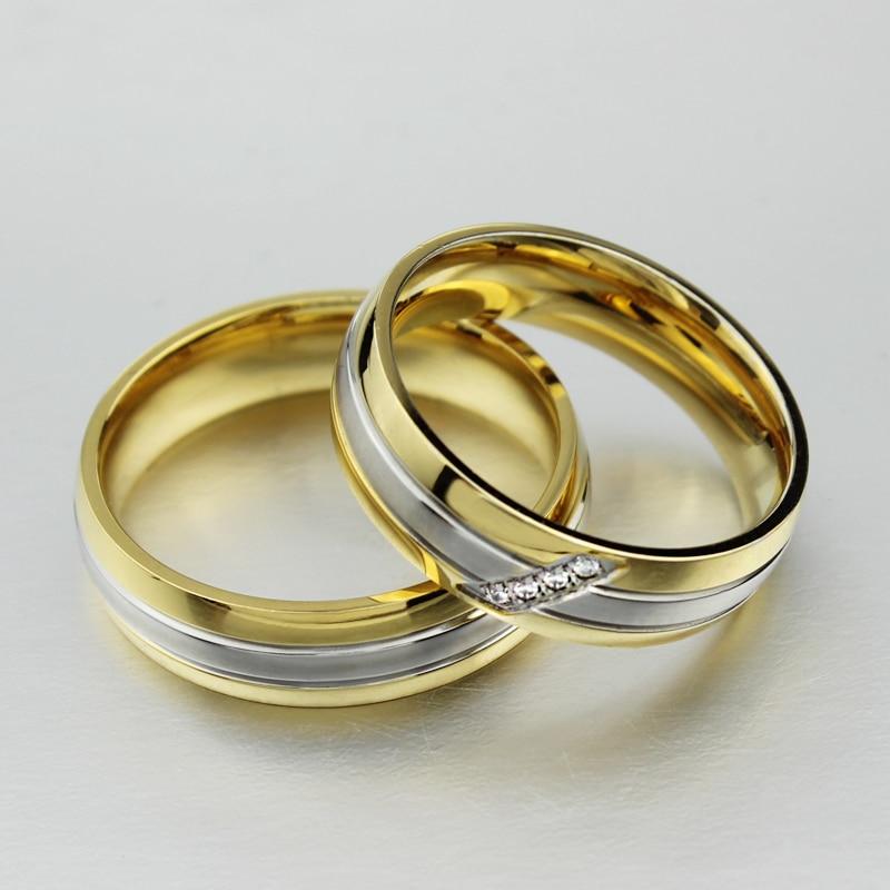 2015 Classic Fashion 18k Gold Rings For Men Women Engagement Ring
