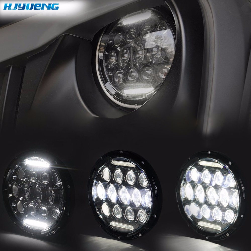 "Image 4 - HJYUENG For UAZ Hunter Suzuki Samurai LED Projector headlight 7"" LED headlamp Light Lamp 7inch For Lada 4x4 urban Niva-in Car Light Assembly from Automobiles & Motorcycles"