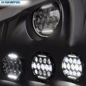 "Image 4 - HJYUENG For UAZ Hunter Suzuki Samurai LED Projector headlight 7"" LED headlamp Light Lamp 7inch For Lada 4x4 urban Niva"