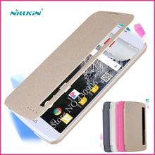 Новый Nillkin Для LG K10 LTE K420N K430 K430ds F670 Случае высокое Качество Смарт-Кожаный Чехол Для Телефона Функция Сна Для LG K10