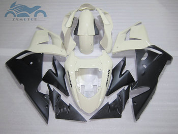 Customized full set Motorcycle fairing kits for Kawasaki Ninja ZX-10R 2004 2005 aftermarket fairings kit 04 05 ZX10R white black