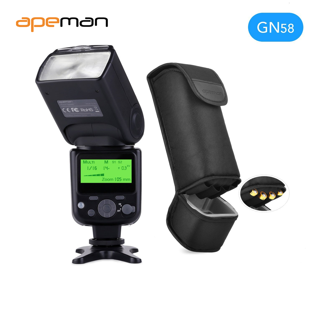 apeman Speedlite Flash for Canon Speedlight for Nikon Guide Number 58 LCD  Display Compatible with Sony Panasonic Pentax camera on Aliexpress.com |  Alibaba ...