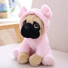 soft toy dog baby 20cm SharPei doll plush hat turned simulation Pug stuffed animal hoodie Mascot