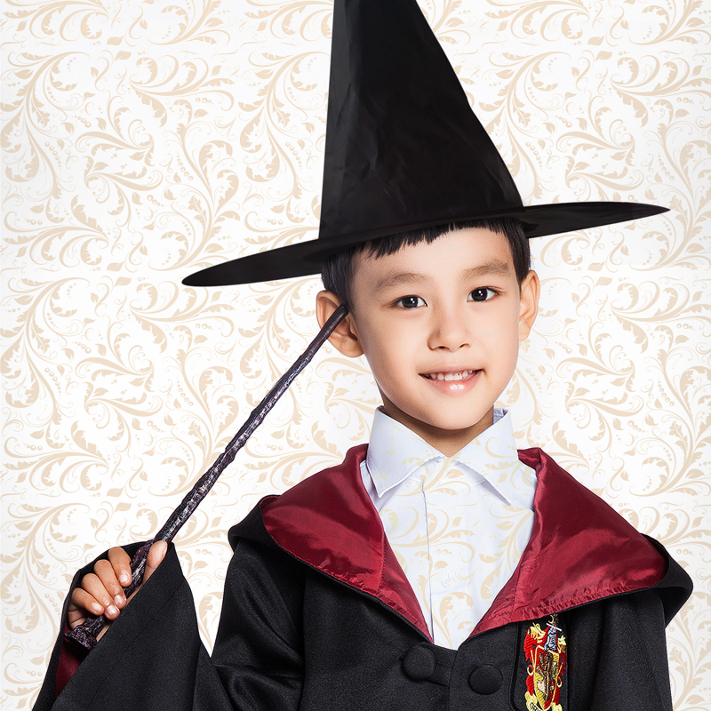 Milky Way Children Unisex Pointed Solid Hat Potter Magic Hat Cosplay Magic Hat