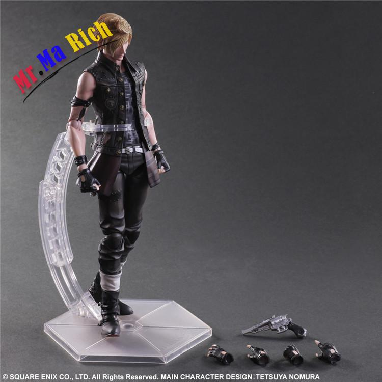 "25cm Anime <font><b>Final</b></font> <font><b>Fantasy</b></font> <font><b>XV</b></font> <font><b>Figure</b></font> Prompto Argentum Play Art PVC 10"" Collection Hobby Movable Model Doll Best Gift Toy image"