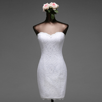 Poems Songs High Quality 2018 Short Mermaid Wedding Dresses Vestido De Noiva Robe De Mariage Bridal