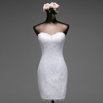 Poems Songs high quality short mermaid wedding dresses 2020 vestido de noiva robe de mariage bridal dress free shipping