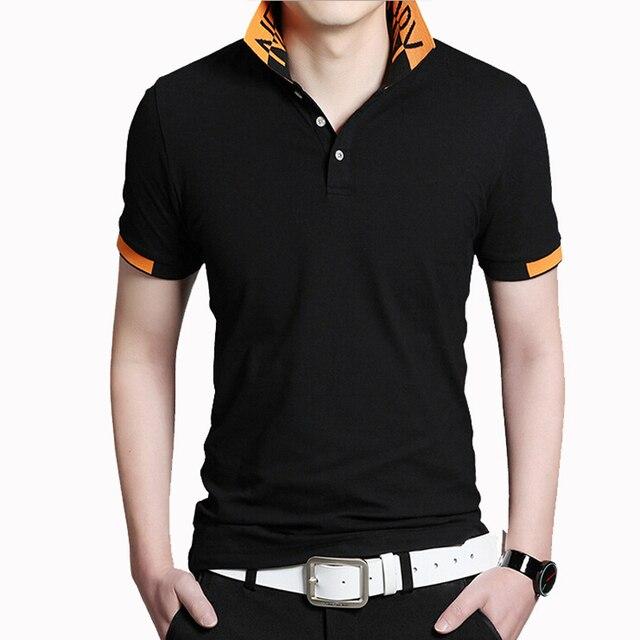b5f80efef1608 Homens Da Camisa gola Polo de Manga Curta Camisas de Algodão Fino Fit camisa  polo masculina