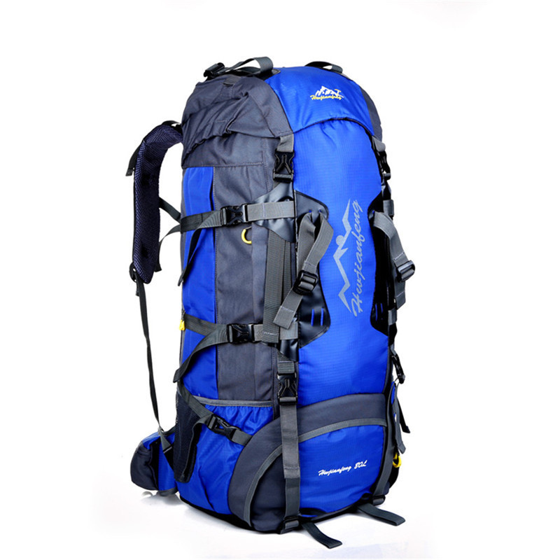 ФОТО 80L Professional Outdoor Camping Climbing Skiing Hiking traveling Backpack Large Capacity  waterproof Bag dropshipping wholesale