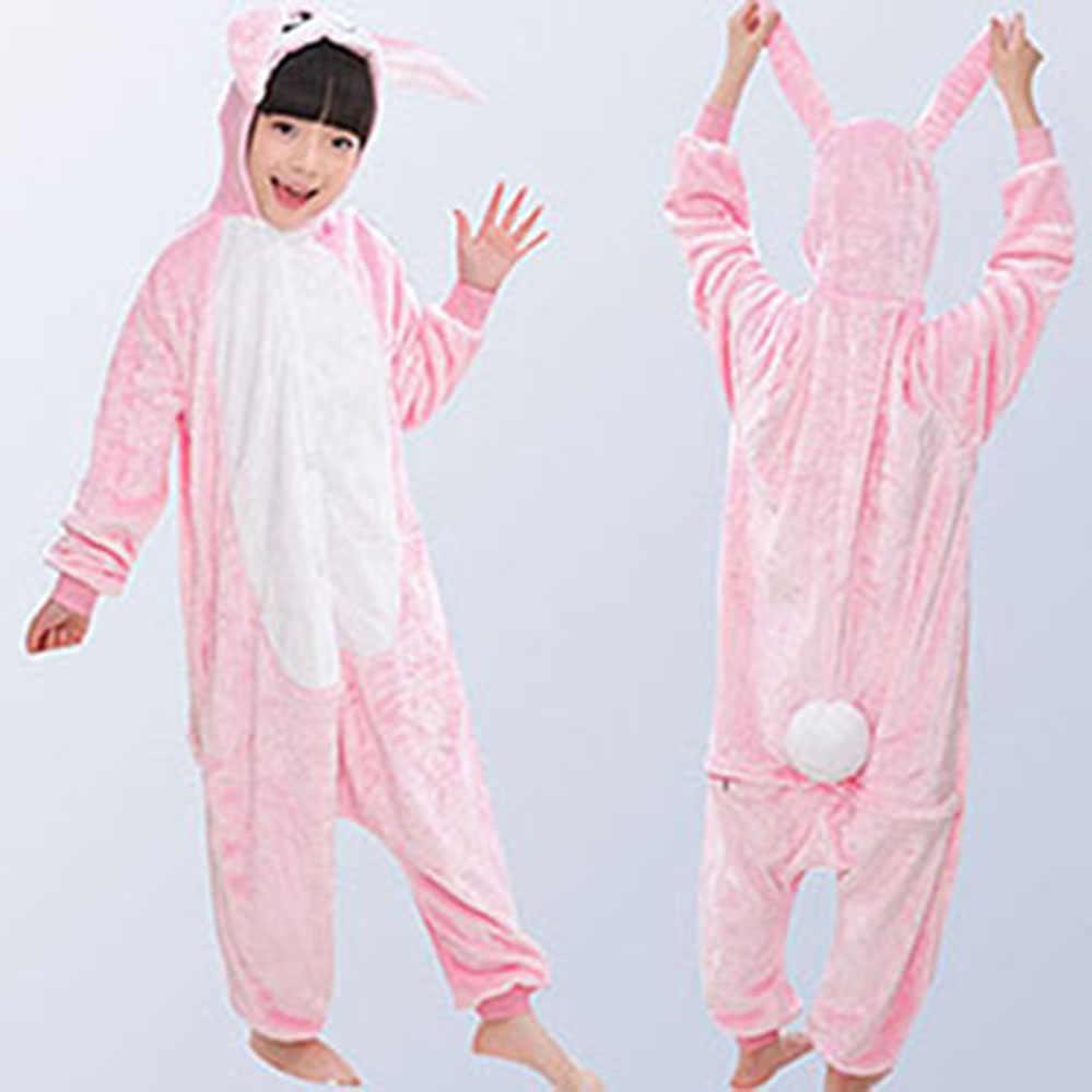 ... Фланелевые детские пижамы зимние с капюшоном животных Дети Единорог  пижамы для мальчиков и девочек пижамы комбинезоны ... 88c7b48dc47c3