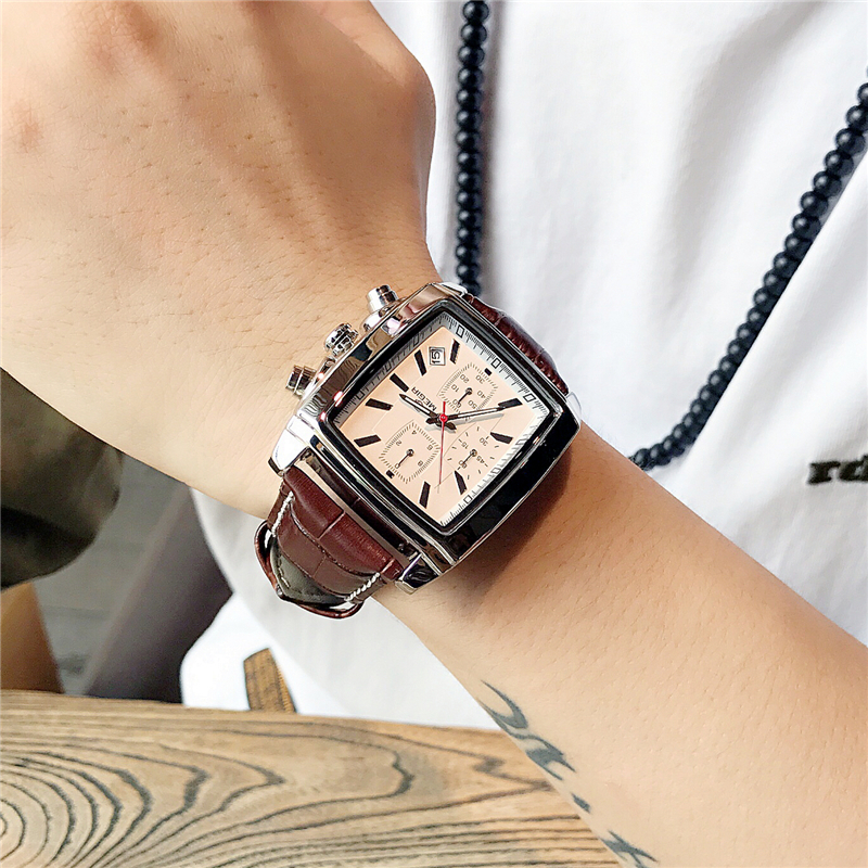 Relogio Masculino Mens Watches Top Brand Luxury MEGIR Men Military Sport Luminous Wristwatch Chronograph Leather Quartz Watch mens watches top brand luxury skmei men military sport luminous wristwatch chronograph leather quartz watch relogio masculino