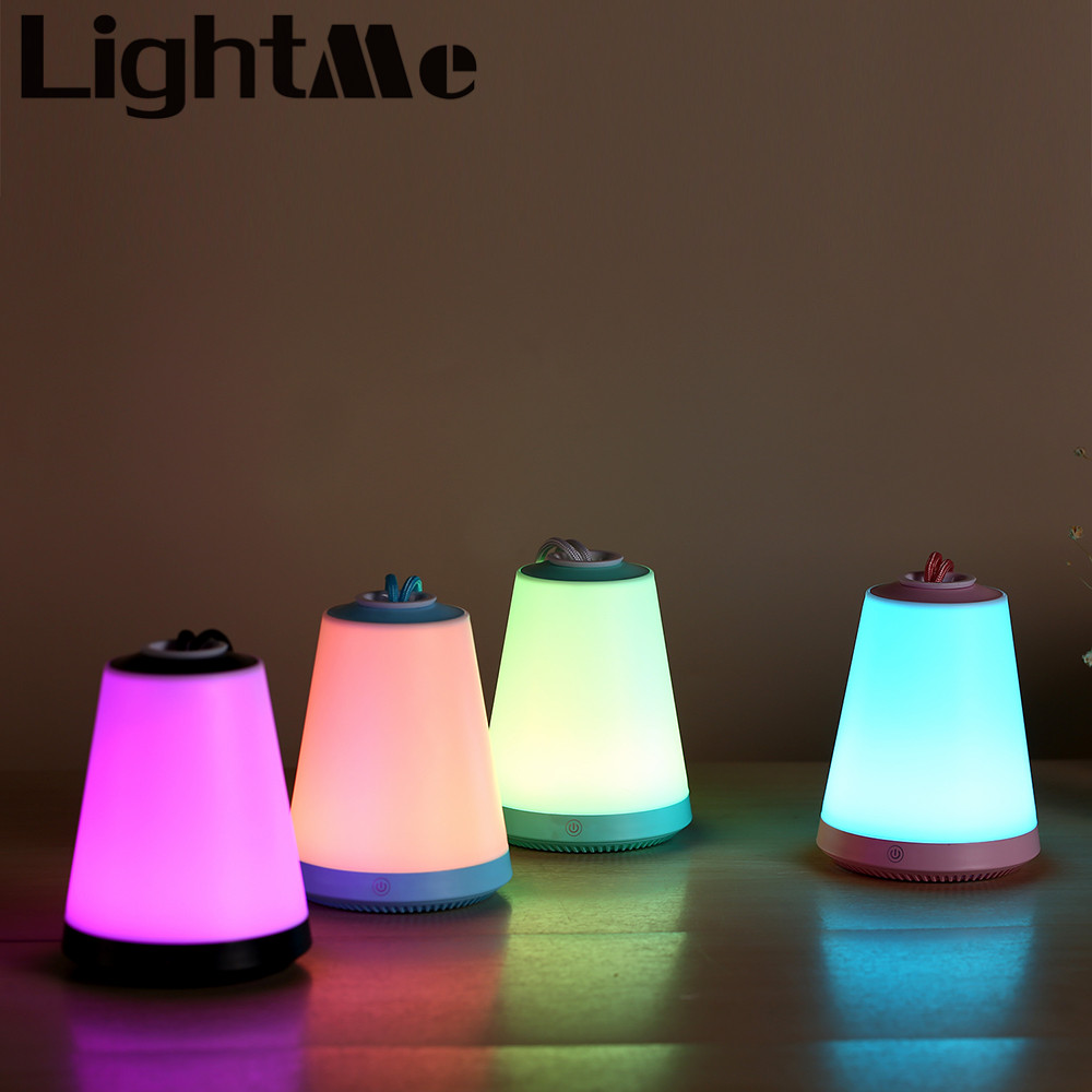 LightMe Premium New LED Rechargeable Mini Night Light Emergency Light Magnetic Colorful Light With SOS Mode For Camping Outdoors